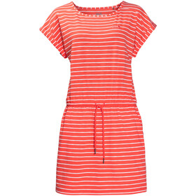 Jack Wolfskin Travel Gestreepte Jurk Dames, hot coral stripes